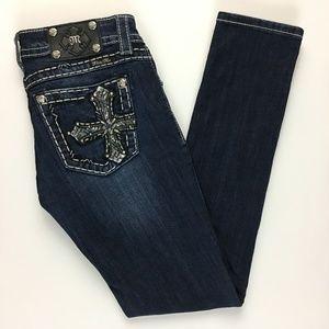 Miss Me Signature Skinny Jeans Cross Embellished
